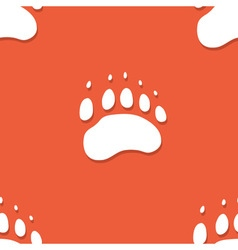 Seamless bear footprint pattern vector