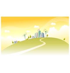 Path towards city vector