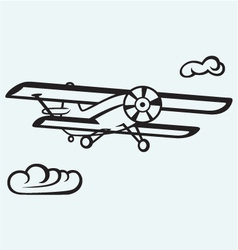An airplane in the sky vector