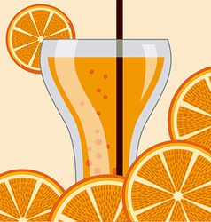 Citrus juice vector
