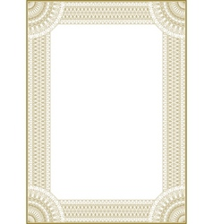 Guilloche frame vector
