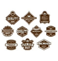 Labels and banners in western style vector