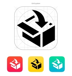 Loading in box icon vector