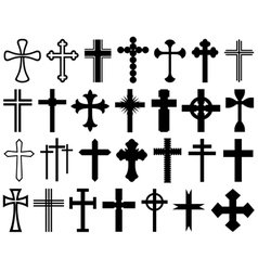 Set of different crosses vector