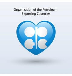 Love organization of petroleum exporting countries vector