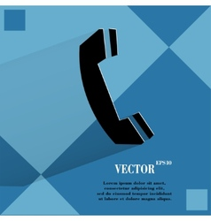 Phone flat modern web design on a flat geometric vector