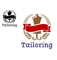 Fashion and tailoring emblem vector