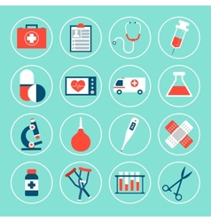 Medical equipment icons vector