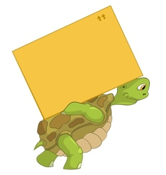 Funny turtle delivery vector