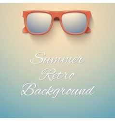 Summer vintage background sandy beach and vector