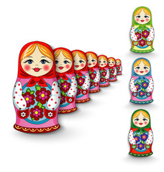 Russian doll matryoshka vector