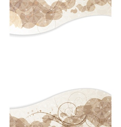 Beige background with petals pattern vector