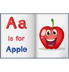 Book with an apple vector