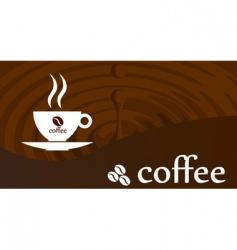 Splash coffee vector