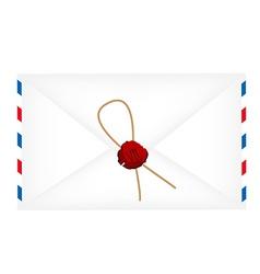 Wax sealed letter envelope vector