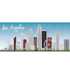 Los angeles skyline with grey buildings vector