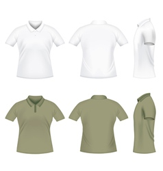 Men polo tshirts vector
