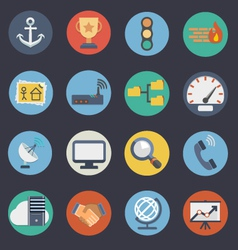 Flat icons for web and applications set 3 vector