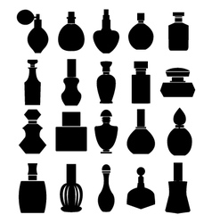 Parfume set parfume bottles vector