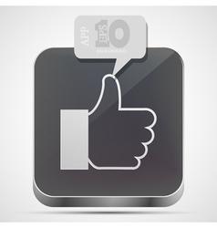 Like app icon vector