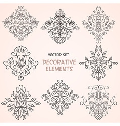 Decorative floral elements vector