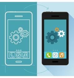 App development concept in flat style vector