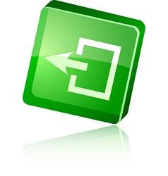 Exit icon vector