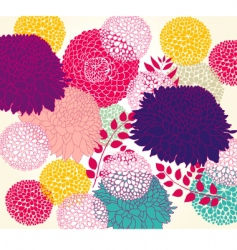 Wallpaper with flowers vector