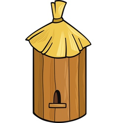 Cartoon of farm bee hive vector