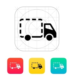 Empty delivery truck icon vector