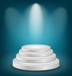 Empty white podium with light vector