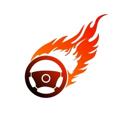 Symbol burning automobile steering vector
