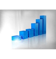 Graph blue vector