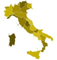 Italy regions map vector