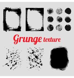 Grunge texture set frames splatter textures smear vector