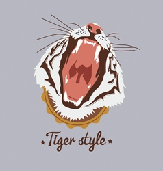Tiger style design vector