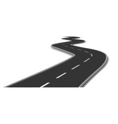 Curved road vector