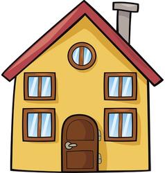 Funny house cartoon vector