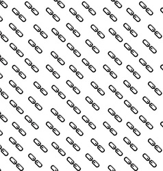 Chain link icon flat design style seamless pattern vector
