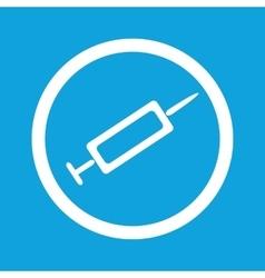 Syringe sign icon vector