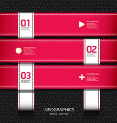 Leather pink color design template vector