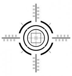 Gun sight template vector