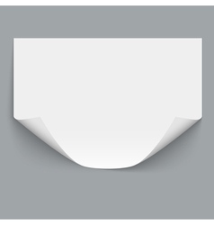 Horizontal empty paper sheet vector