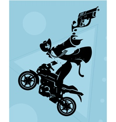 Motorcycle gang vector