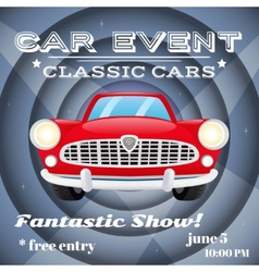 Retro car event poster vector