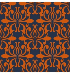 Large busy bold arabesque seamless pattern vector