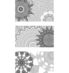 Set of black and white cards vector