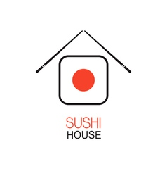 Sushi house idea vector