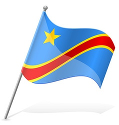 Flag of democratic republic of congo vector