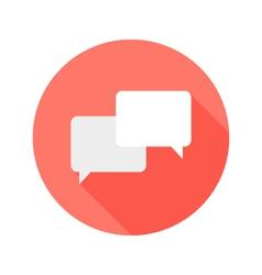 Communication circle flat icon vector